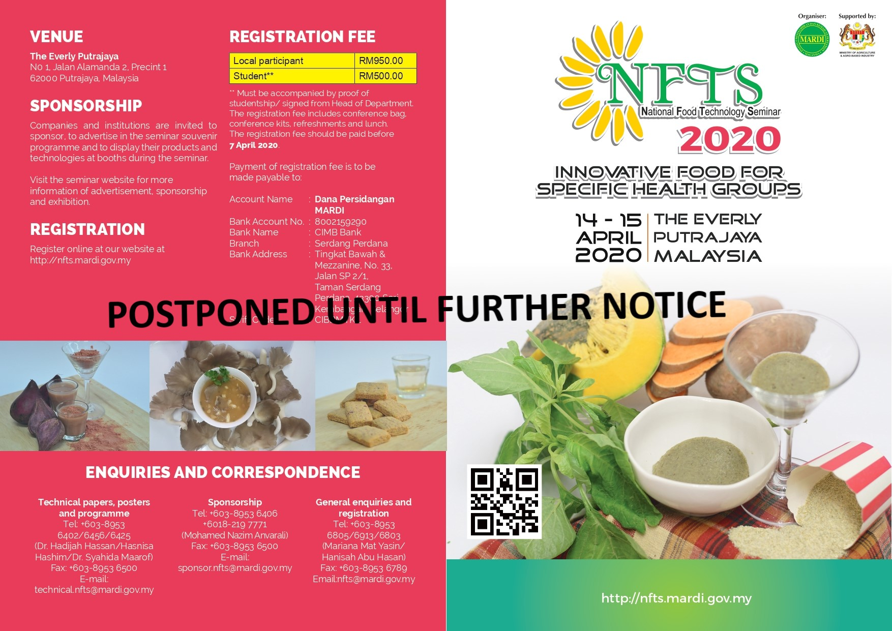 NATIONAL FOOD TECHNOLOGY SEMINAR 2020,INNOVATIVE FOOD FOR SPECIFIC HEALTH GROUPS, 14-15 APRIL 202