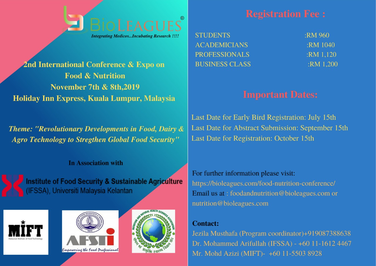 2nd International Conference & Expo on Food and Nutrition